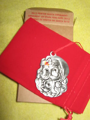 2012 *SANTA* Pewter Ornament AVON Holiday/Seasonal Inside Home Decor NEW IN BOX