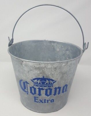 Corona Extra Mexico Beer 1995 Metal Ice Bucket Old Bar Stock Holds Entire 6 Pack