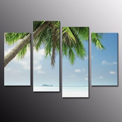 Large Wall Art Home Decor Clear Sky Canvas Painting Art Prints Picture-4pcs