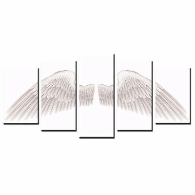 Modern Canvas Art Print White Wing Printed Wall Art Oil Painting Home Decor-5pcs