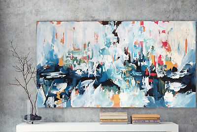 Fashion Large Abstract Hand-Painted Oil Painting Home Decor Art Wall On Canvas