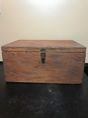Vintage Wooden Box With Brass Hasp. Very Well-Made Plain And Simple