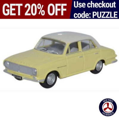 Oxford 1/76 Vauxhall FB Victor White/Primrose 76FB005 Brand New