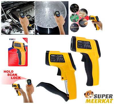 Laser Thermometer Digital Infrared Non-Contact Temperature Gun LCD For Kitchen
