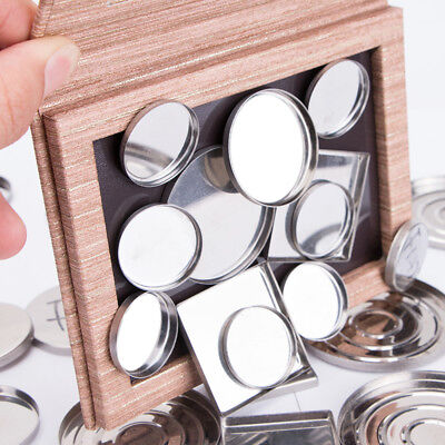 2 Styles Empty Magnetic Eyeshadow Wood DIY Blush Powder Palette Makeup Case