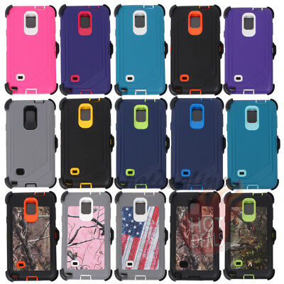 FOR SAMSUNG GALAXY NOTE 4 Defender Case Cover(Clip fits Otterbox)