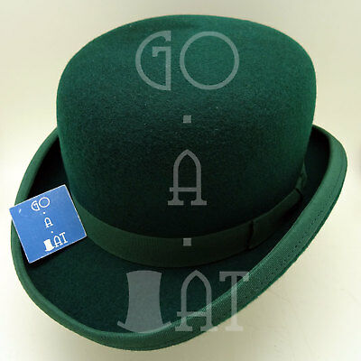 CLASSIC Wool Felt Dura Bowler Derby Top Hat Men Women | Green | Size 52 57 59 61
