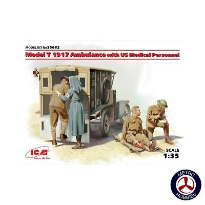 ICM 1/35 Model T 1917 Ambulance with US Medical Personnel ICM-35662 Brand New