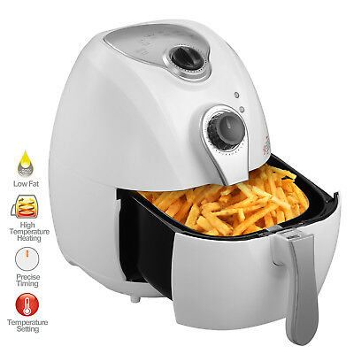 White 1300W 2.7L Electric No Oil Air Fryer Timer Temperature Control for Kitchen