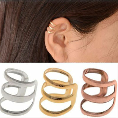 Fashion Jewelry Unisex Punk Rock Ear Clip Cuff Wrap No piercing-Clip On Earrings
