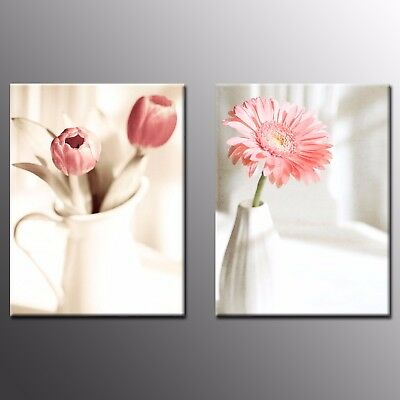 Canvas Print Picture Flower Oil Paintings Wall Art For Home Decor-2pcs