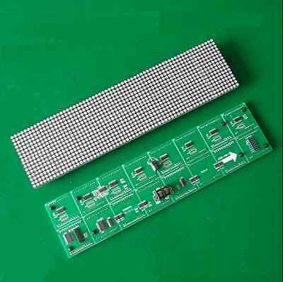 3.75 Unit Board 64*16 Dot Matrix LED Display Screen F3.75 Module 304*76mm New
