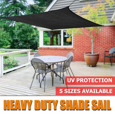 Black Shade Sail Rectangle Multi Sizes Super Strong 3X4M/ 4x6M/ 5X7M Sun Canopy