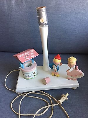 Vintage Childrens Lamp And Nightlight, Jack And Jill Theme, Irmi Brand