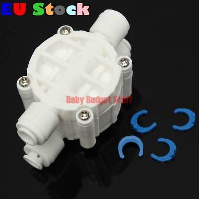 1/4 Inch 4 Way Auto Shut Off Valve For RO Reverse Osmosis Water Filter System UK