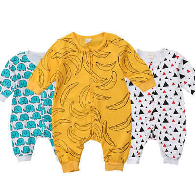 Toddler Kid Baby Boy Girl Sleeve Romper Bodysuit Jumpsuit Summer Outfits Clothes