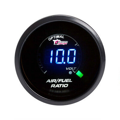 2'' 52MM Blue LED Auto Car Air Fuel Ratio Monitor Gauge AFR Meter Smoke Lens DS2