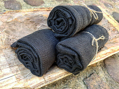 Linen bath towel, black washed linen waffle towel, linen bath big sauna towel