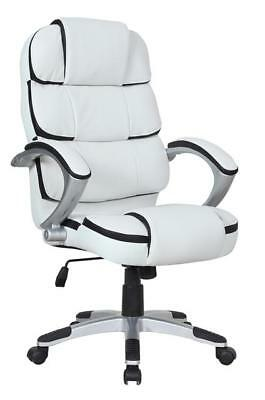 New Luxury Stylish Computer Office Desk Chair PU Leather Swivel Adjustable Chair