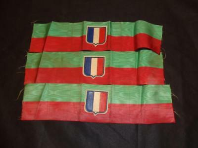 Genuine Vintage French Army Military Legion Armlet Arm Band - Watered Silk