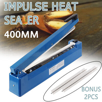 Impulse Heat Sealer 400mm Electric Plastic Poly Bag Sealing Machine Pure Copper