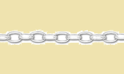 925 Sterling Silver 4mm Fancy Rolo Chain Necklace