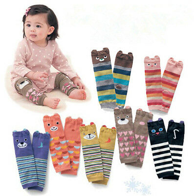 Cartoon Baby Leg Warmers Baby Boys Girls Toddler knee-length Striped Leg War JPL
