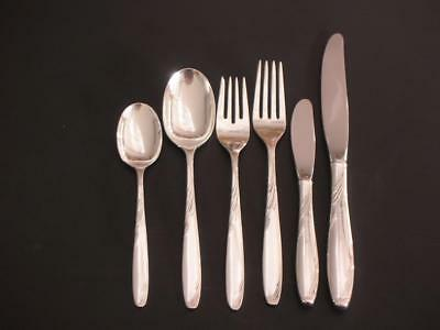 6 Piece Sterling Silver Place Setting 'Willow' by Gorham 1954 Sterling Flatware