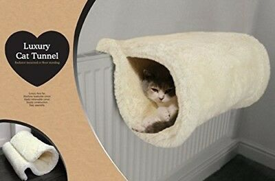 Rosewood Luxury Quality Cat Tunnel And Bed Radiator Or Floor Standing Warm