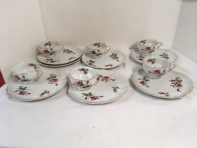 Bella Rose By A H China Made In Japan 6 Sets Plus 1 Plate