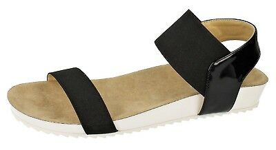 4 Colours Great Price! Ladies Down To Earth Strappy Sandals F1R0716