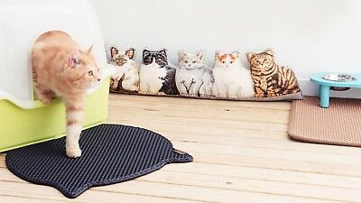 Blackhole Cat Litter Mat - Headshape 57.5cm X 52.5cm - Litter Tray Mat