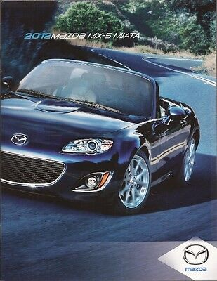 2012 12 Mazda MX5 Miata  Original sales brochure MINT