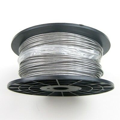 "500ft Stainless Steel Type 316 Cable 1x19 1/8"" - Cable Railing Wire Rope"