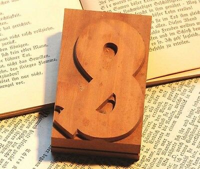 "sign ""&"" AMPERSAND wood type rare decorative letterpress printing block letter"