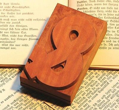 "rare sign ""&"" AMPERSAND wood type rare decorative letterpress printing block"