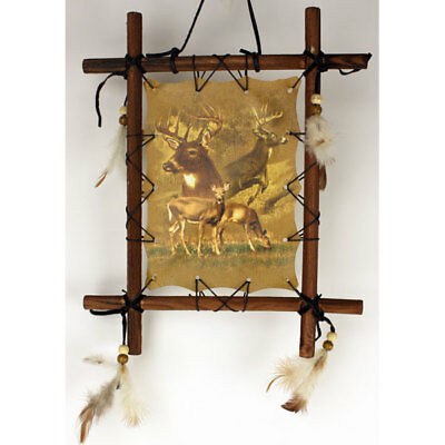 11'' x 9'' Framed Indian Picture - Four Deer