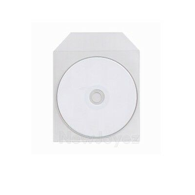 1000 CPP Clear Plastic Sleeve Bag Envelope with Flap CD DVD Disc 50µ Wholesale