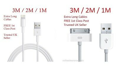 Extra Long 3M 2M 1M USB Charging Cable Charger Lead fit Apple iPhone 4/5/6/7