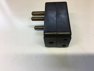 Vintage Mk  Bakelite 3 Pin Socket Double Adaptor 15 Amp To  5 Amp