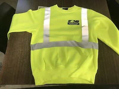 Norfolk Southern Railroad Safety Sweater, Size medium, High Vis, with tags