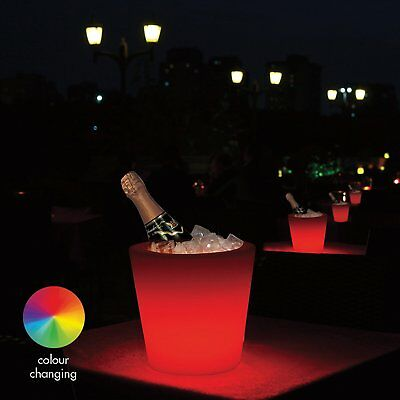 Colour Changing Led Ice Bucket Champagne Wine Drink Cooler Retro Party Bar Xmas