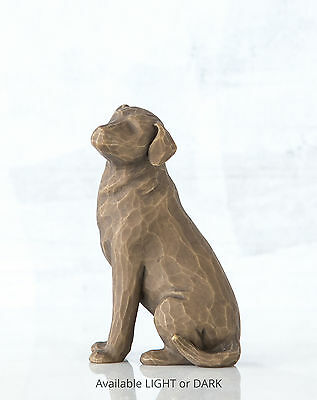 New & Boxed Willow Tree Figurine Love my Dog Dark #27683 Pet Animal Family Gift