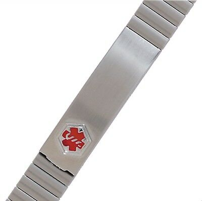 Hadley Roma Stainless Steel Stretch Medical Alert Expansion Bracelet Ladies