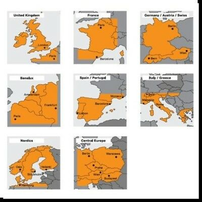 Sony European Map Package Cartes