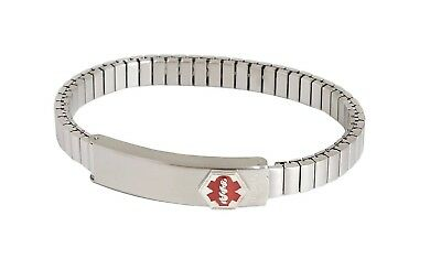 Speidel Stainless Steel Stretch Bracelet With Id Compartment Ladies