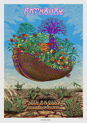 Rothbury 2006 poster EMEK String Cheese Incident The Dead Bob Dylan Black Crowes