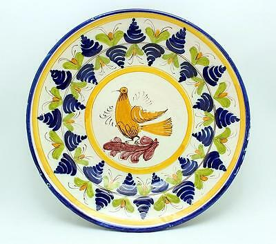 Antique 19Th Century Spanish Faience Charger Plate Signed Y.k.