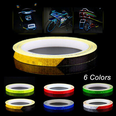 8m Wheel Reflective Sticker Rim Luminous Warning Decals for Bike Car  Motorcycle