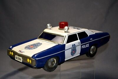 VINTAGE 1970's  SEARS ALPS BATTERY OPERATED TIN LITHO POLICE CAR JAPAN